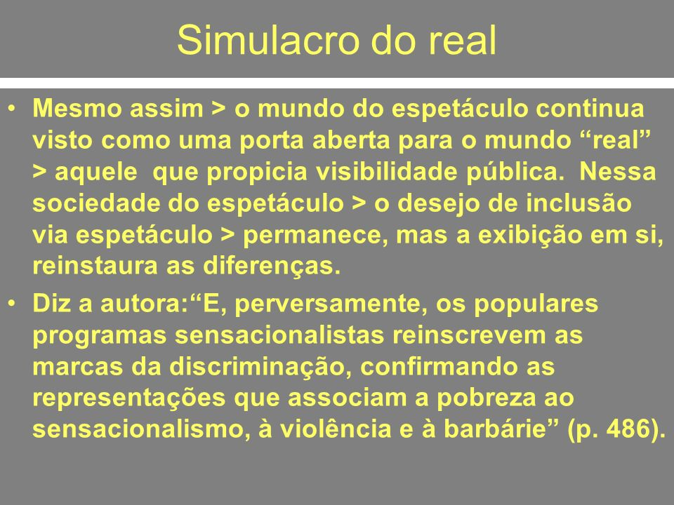 Simulacro do real