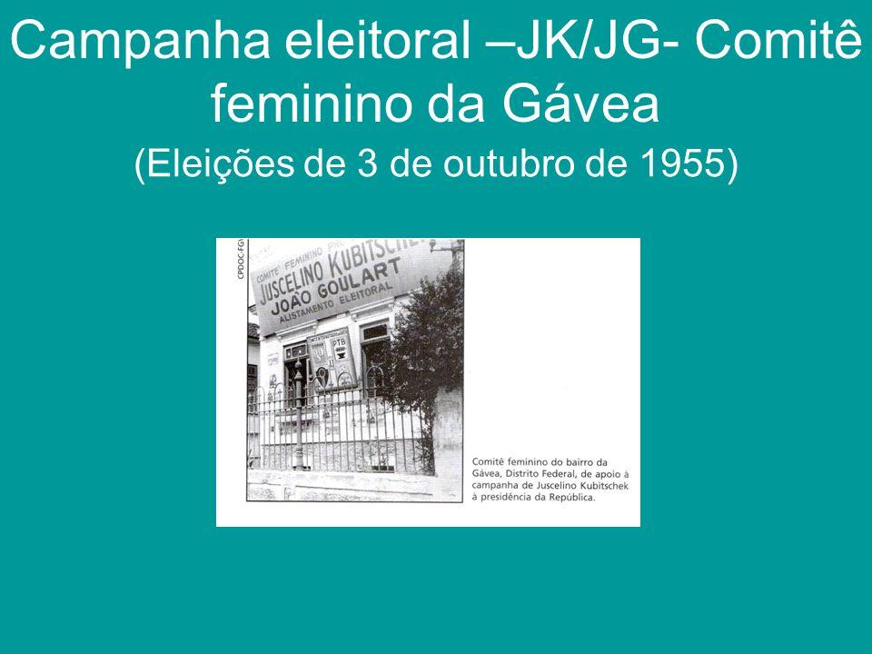 Campanha eleitoral –JK/JG- Comitê feminino da Gávea
