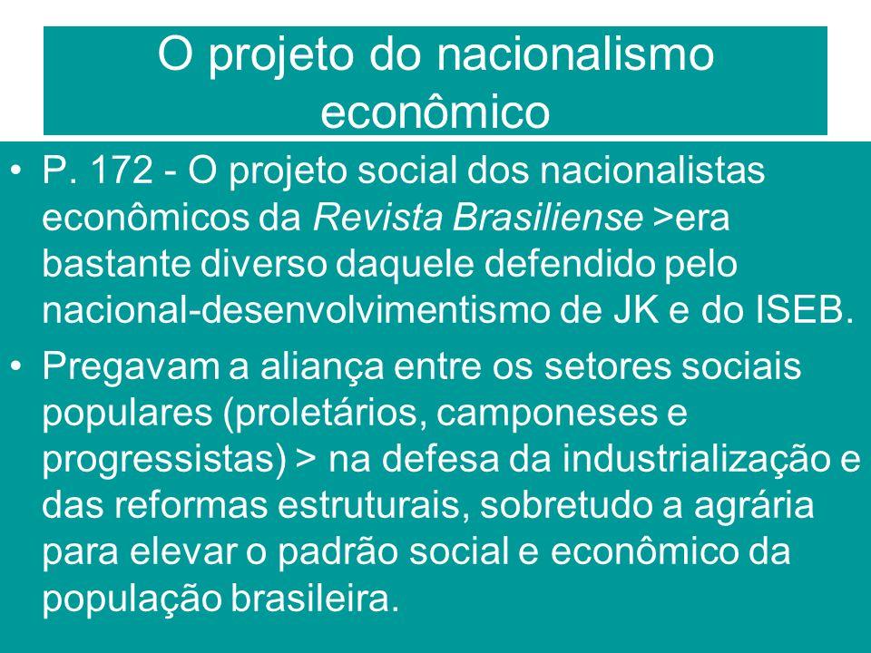 O projeto do nacionalismo econômico