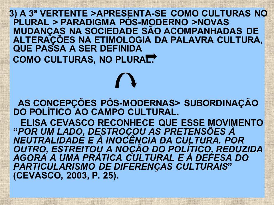 COMO CULTURAS, NO PLURAL.