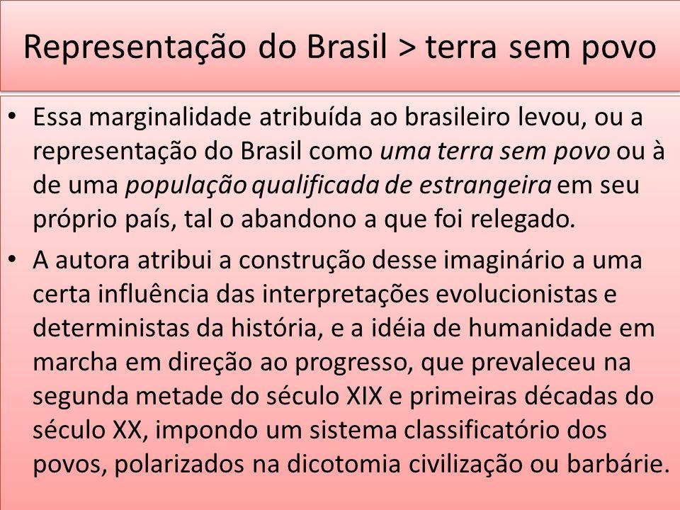 Representação do Brasil > terra sem povo