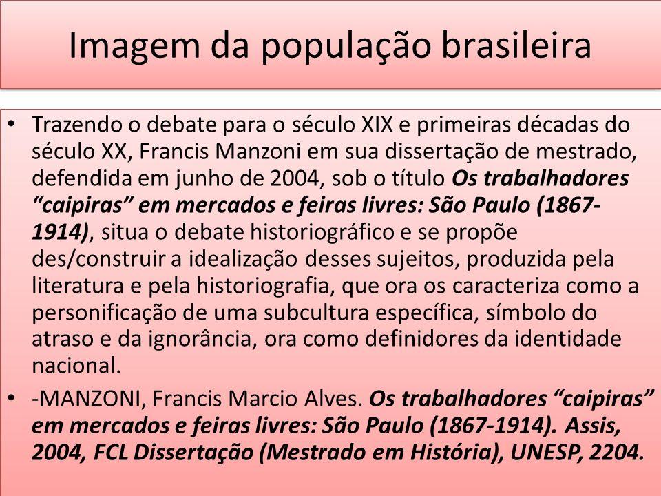 Imagem da população brasileira