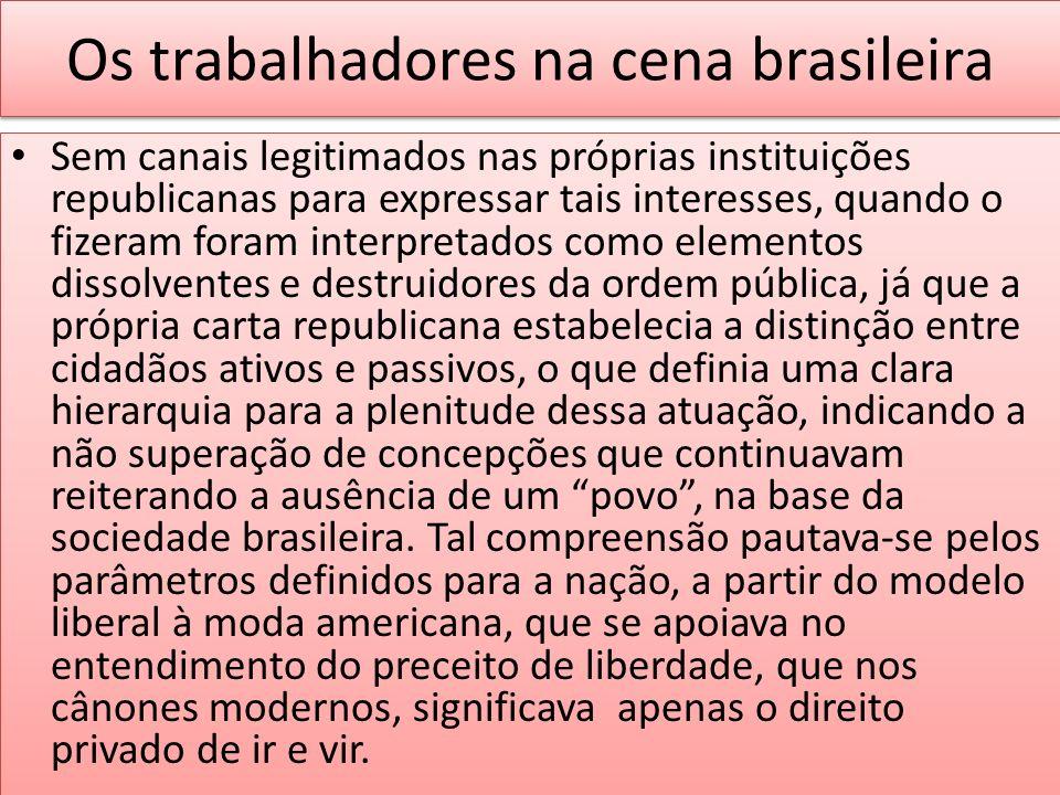 Os trabalhadores na cena brasileira
