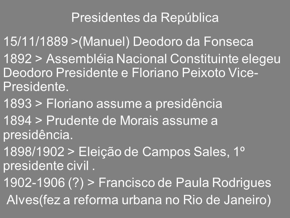 Presidentes da República