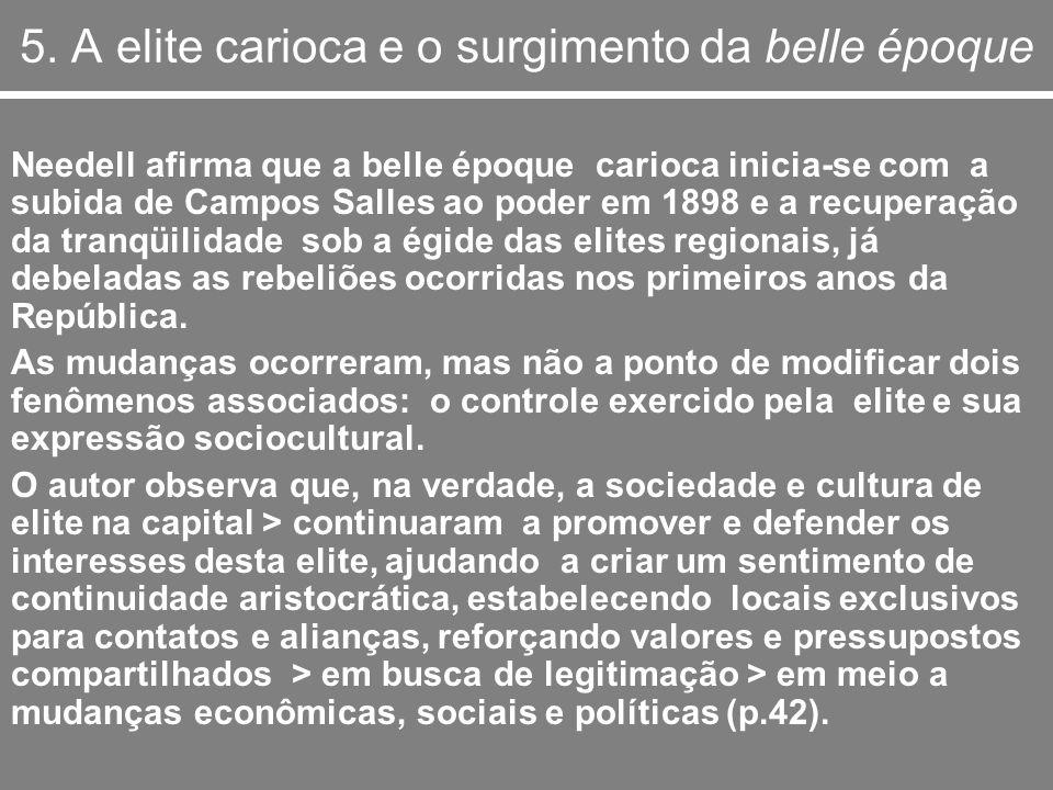 5. A elite carioca e o surgimento da belle époque