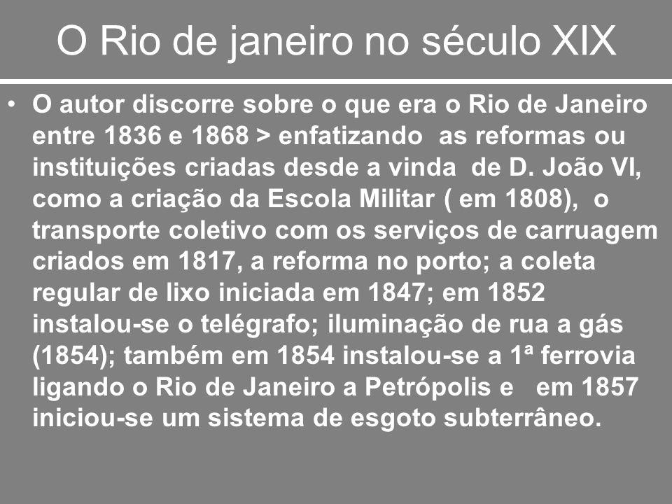 O Rio de janeiro no século XIX