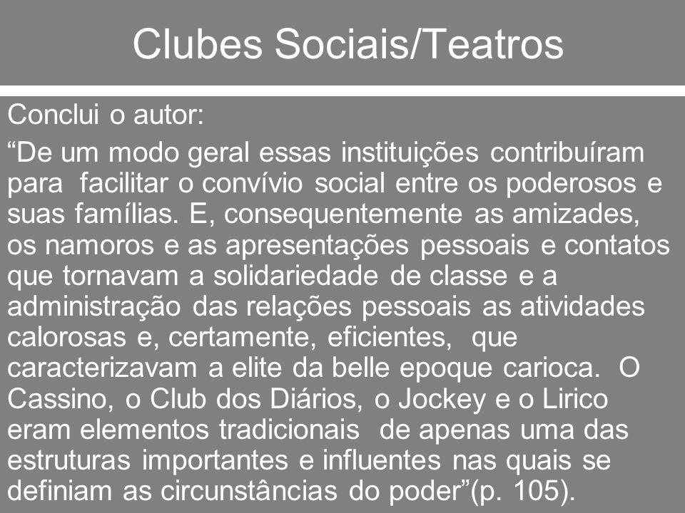 Clubes Sociais/Teatros