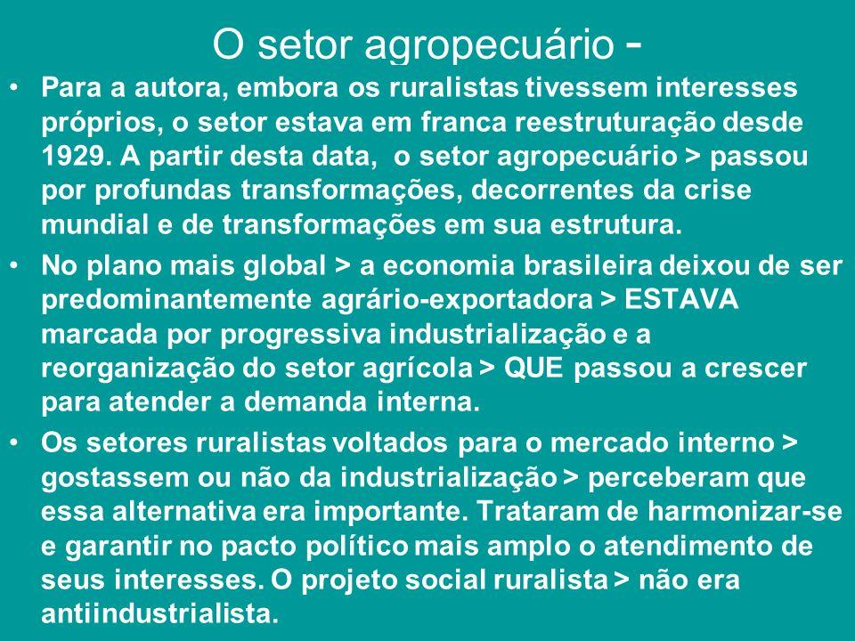 O setor agropecuário -