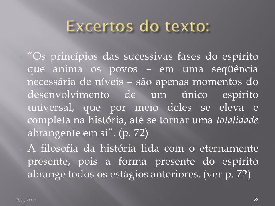 Excertos do texto:
