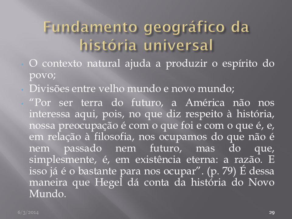 Fundamento geográfico da história universal
