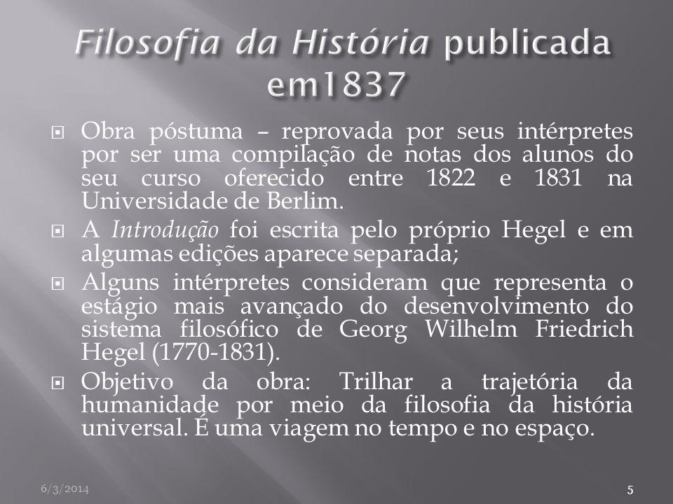 Filosofia da História publicada em1837
