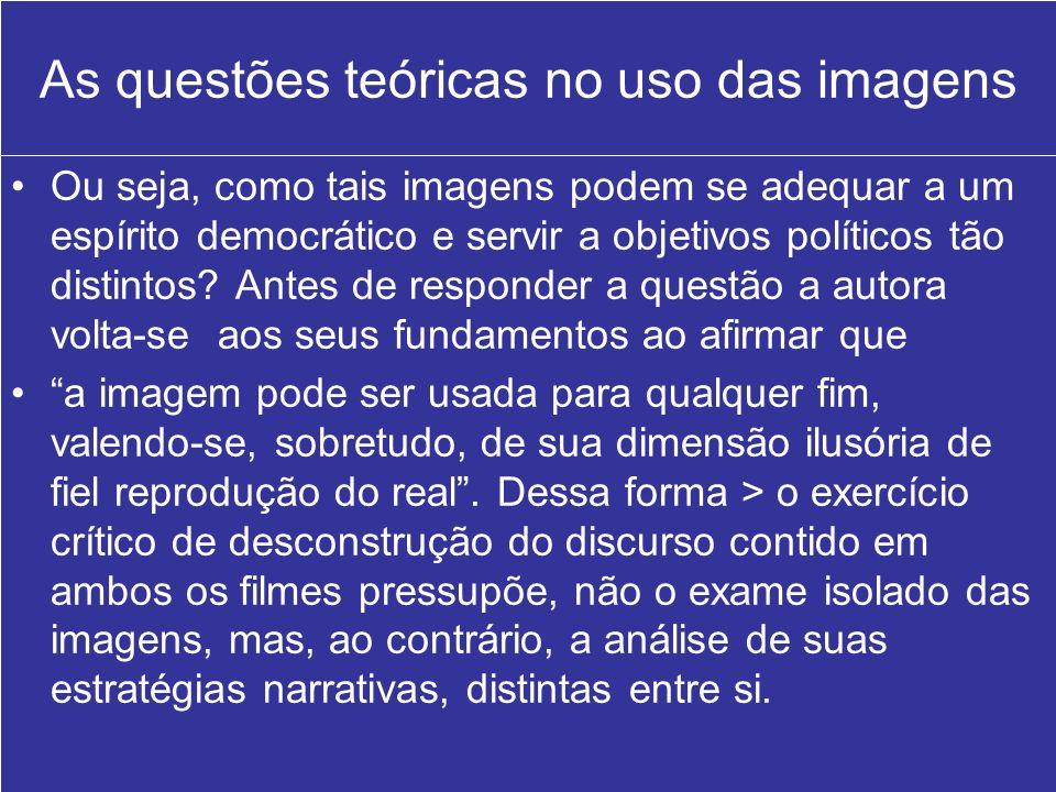 As questões teóricas no uso das imagens