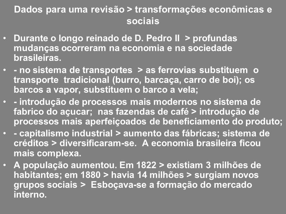 Dados para uma revisão > transformações econômicas e sociais