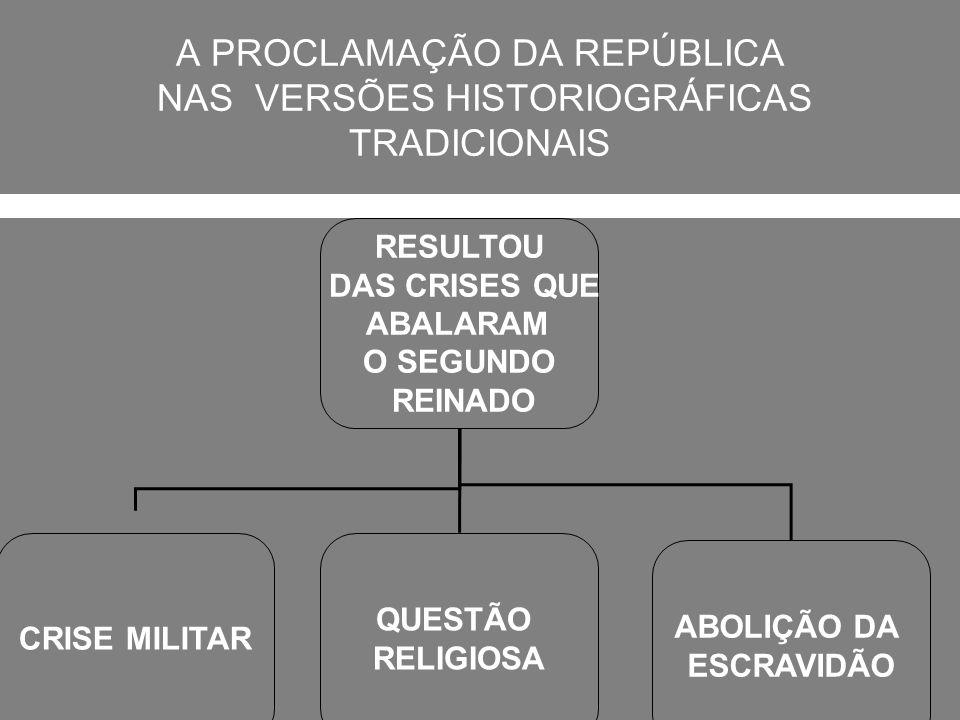 A PROCLAMAÇÃO DA REPÚBLICA NAS VERSÕES HISTORIOGRÁFICAS TRADICIONAIS