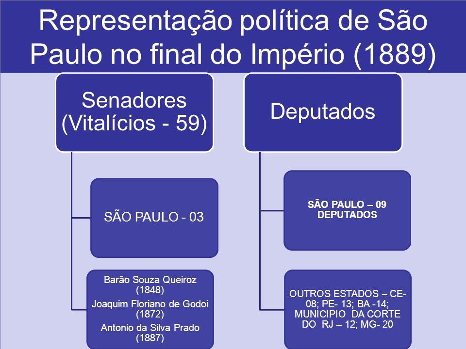 Representação política de São Paulo no final do Império (1889)