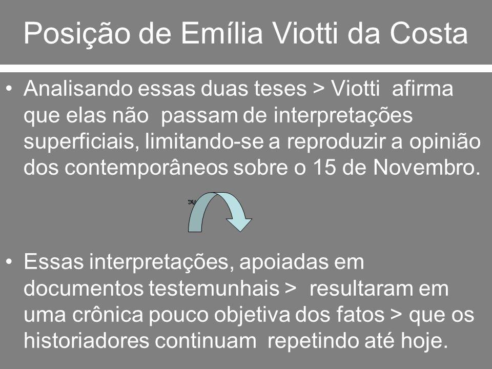 Posição de Emília Viotti da Costa