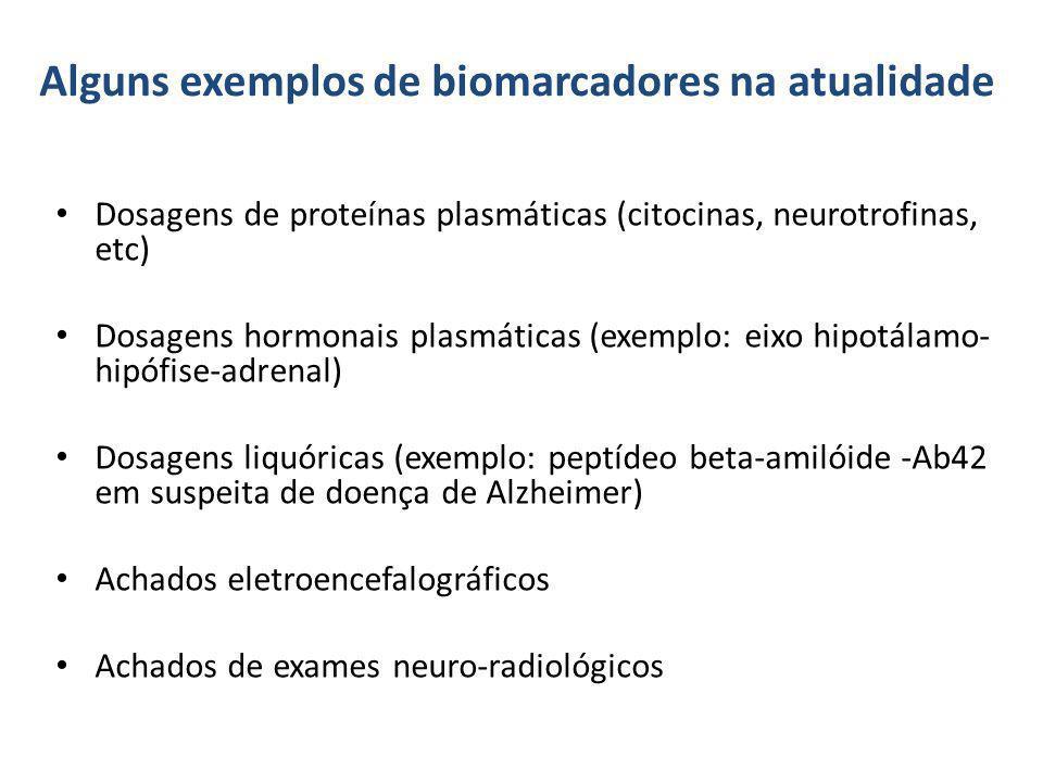 Alguns exemplos de biomarcadores na atualidade