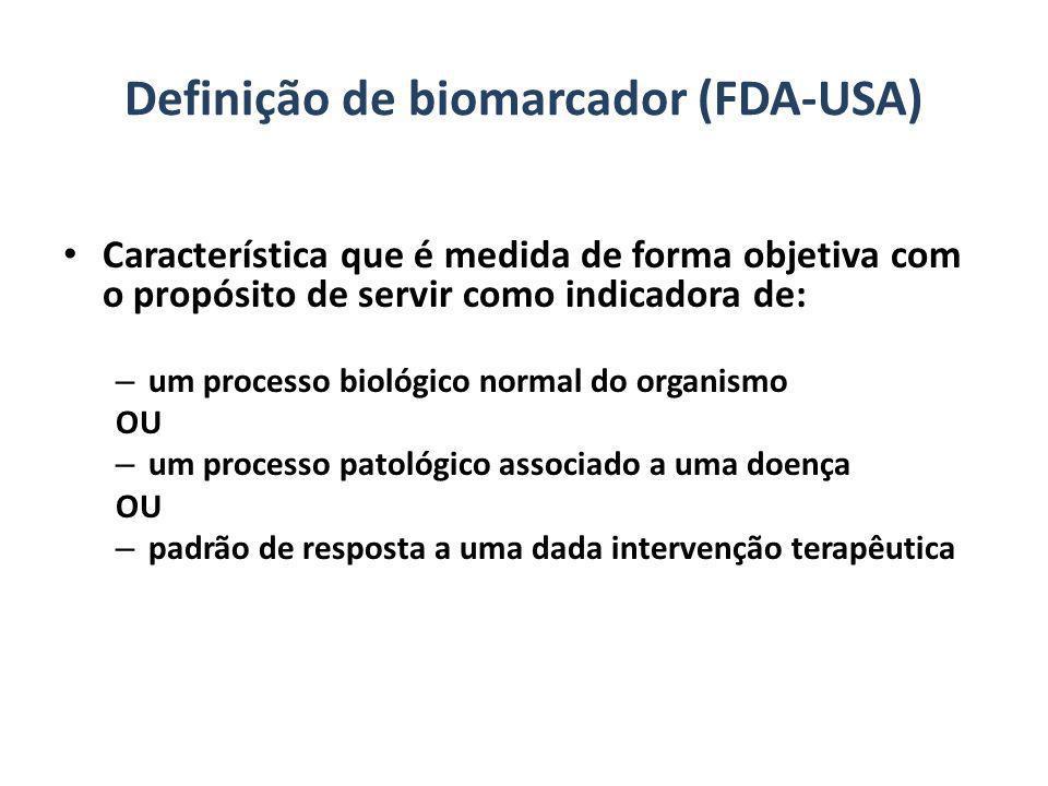 Definição de biomarcador (FDA-USA)