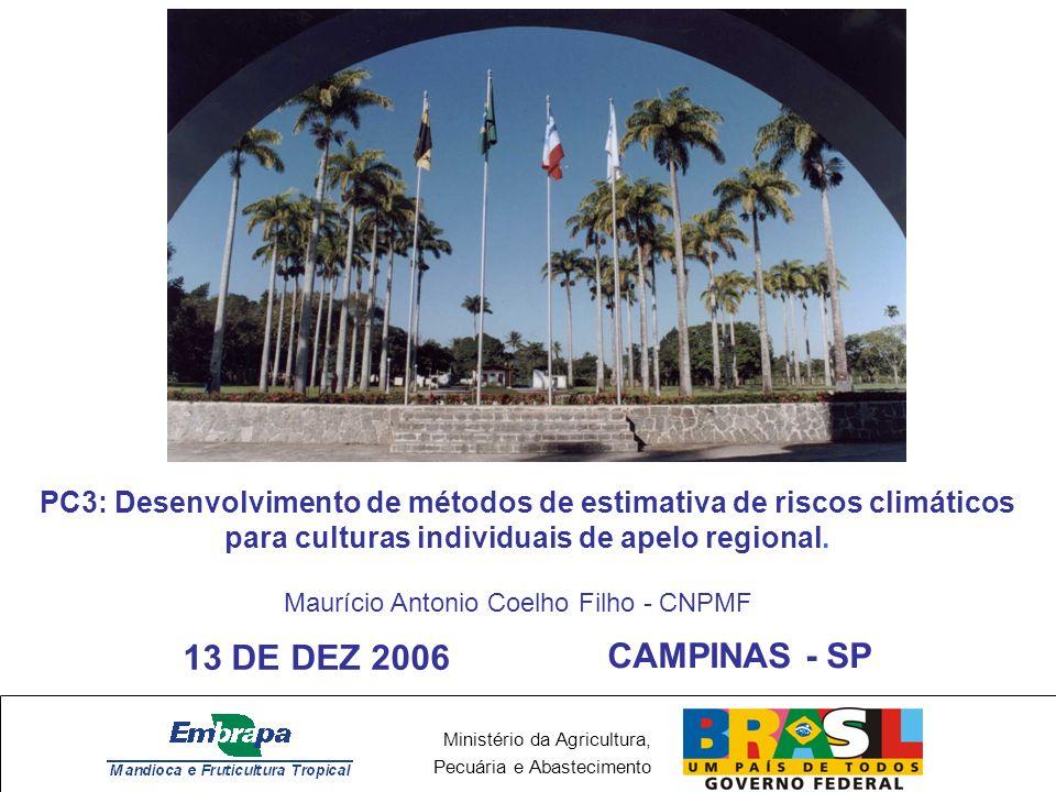 PC3: Desenvolvimento de métodos de estimativa de riscos climáticos para culturas individuais de apelo regional.