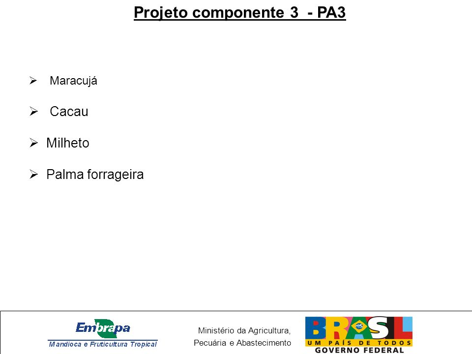 Projeto componente 3 - PA3