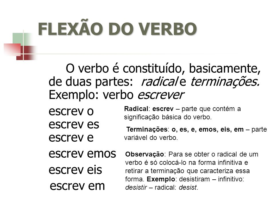 FLEXÃO DO VERBO