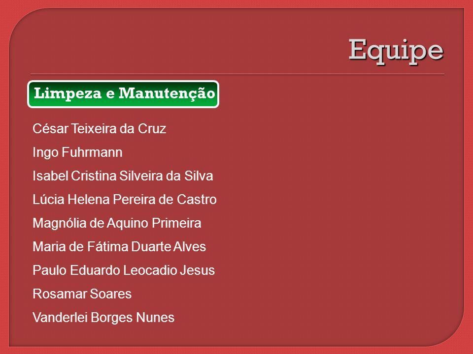 Equipe Limpeza e Manutenção César Teixeira da Cruz Ingo Fuhrmann