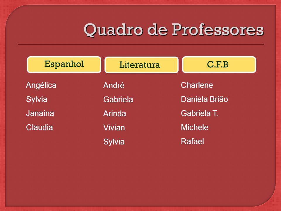 Quadro de Professores Espanhol Literatura C.F.B Angélica Sylvia