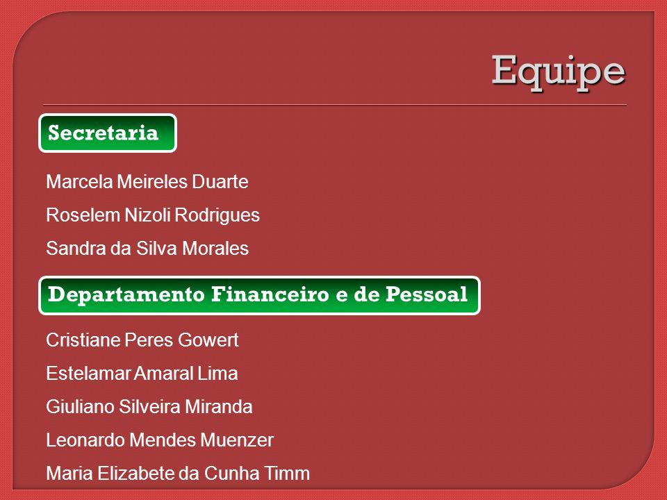 Equipe Secretaria Departamento Financeiro e de Pessoal