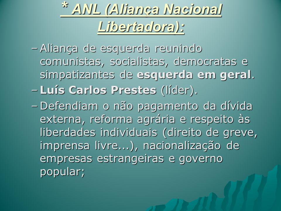 * ANL (Aliança Nacional Libertadora):