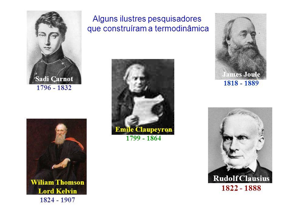Alguns ilustres pesquisadores que construíram a termodinâmica