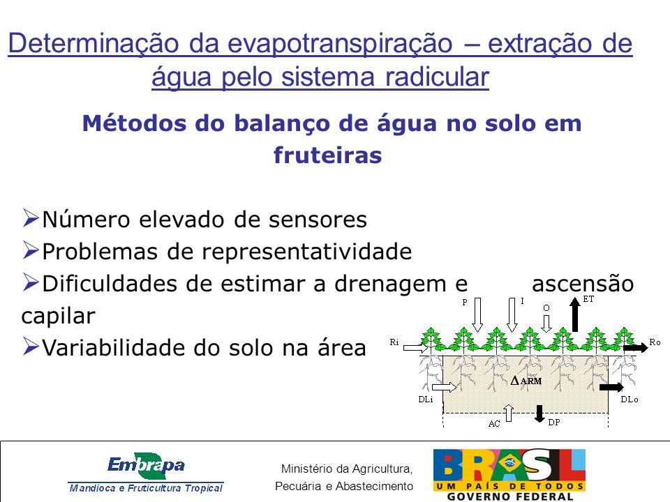 Métodos do balanço de água no solo em fruteiras