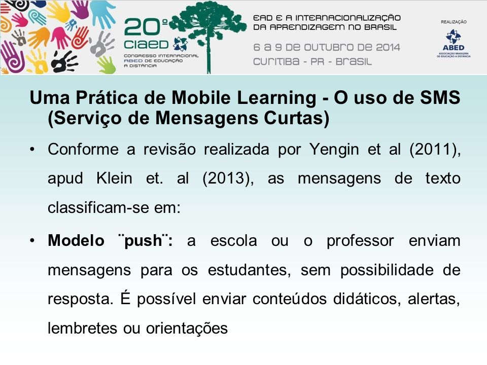 mobile learning via sms among distance Mobile learning: research, practice and challenges the response is sent back via sms among students to ask questions in class.