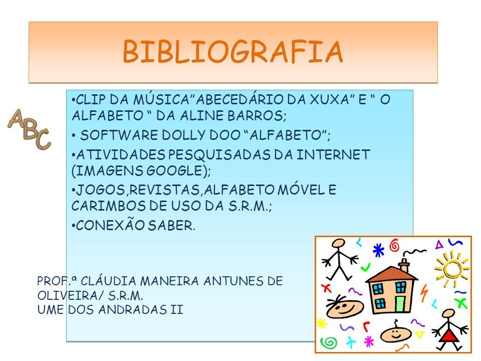 BIBLIOGRAFIA CLIP DA MÚSICA ABECEDÁRIO DA XUXA E O ALFABETO DA ALINE BARROS; SOFTWARE DOLLY DOO ALFABETO ;