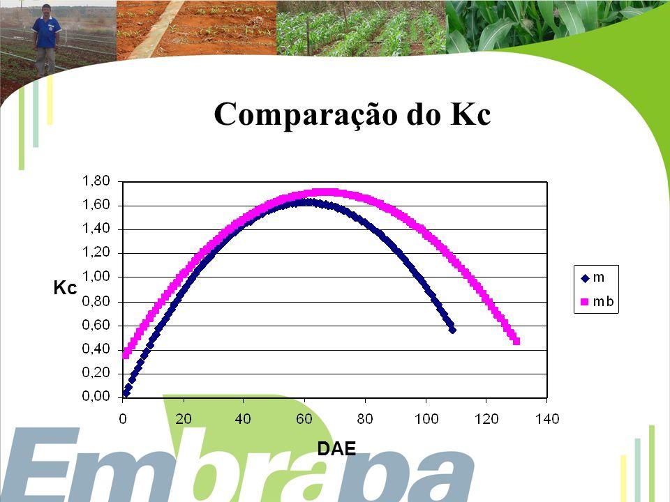 Comparação do Kc DAE Kc