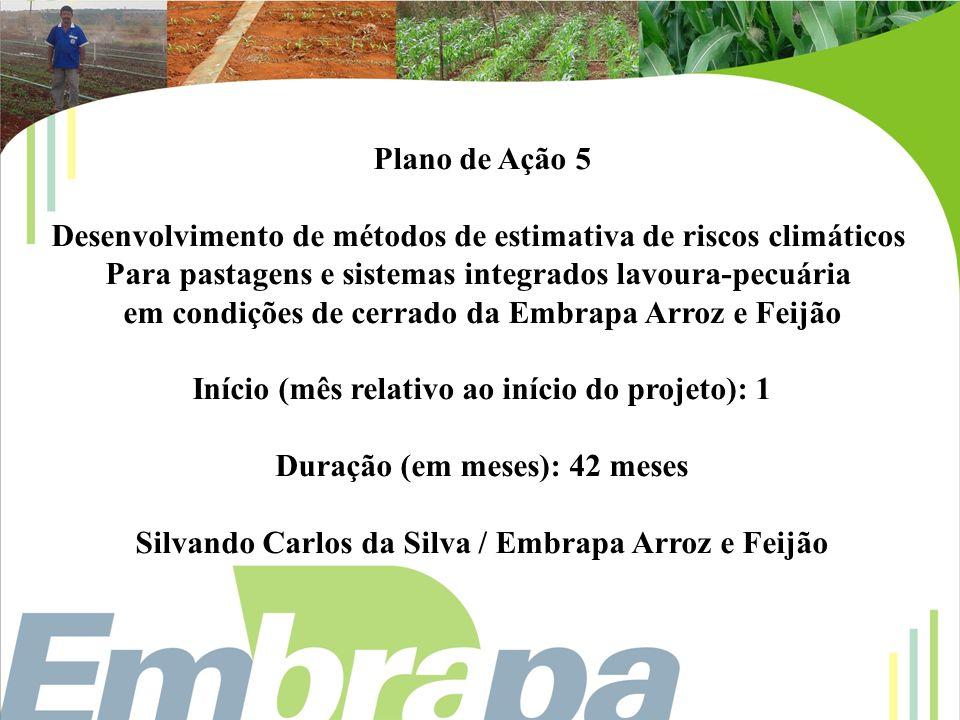 Desenvolvimento de métodos de estimativa de riscos climáticos