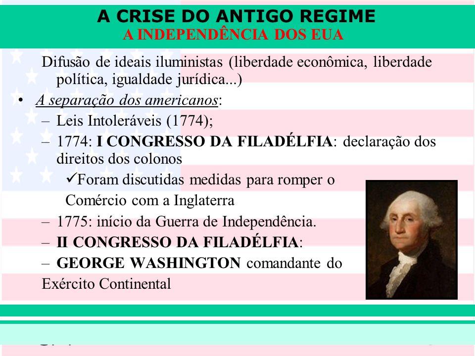 Difusão de ideais iluministas (liberdade econômica, liberdade política, igualdade jurídica...)