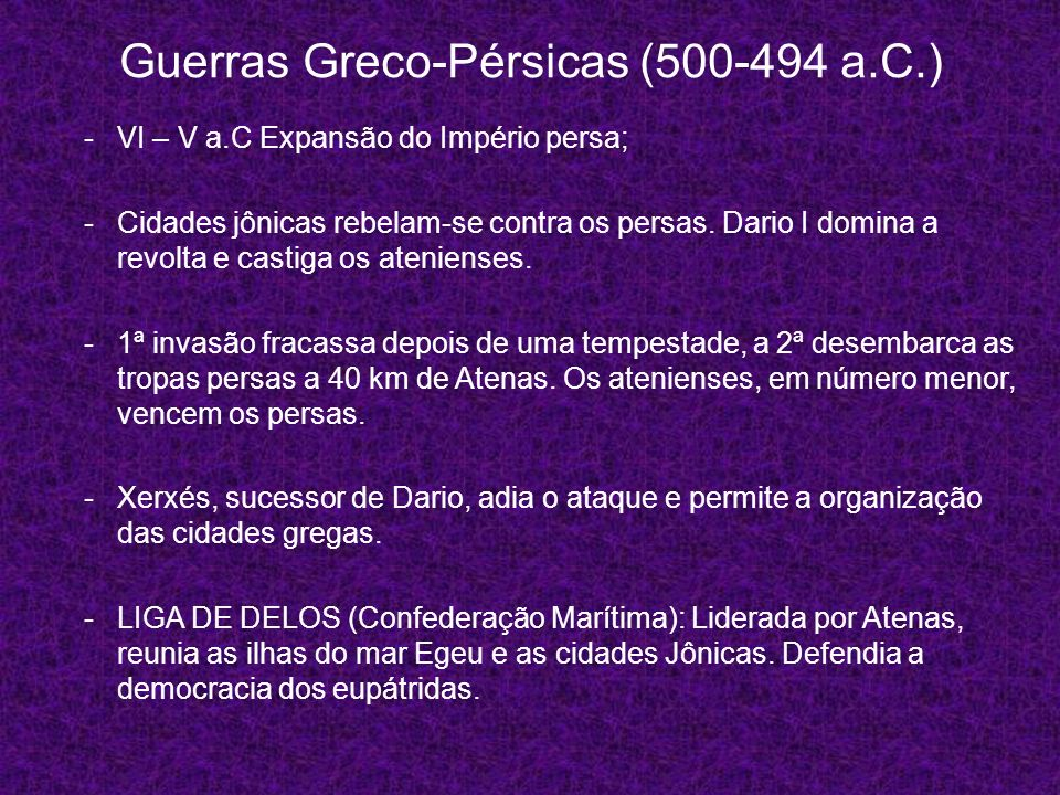 Guerras Greco-Pérsicas (500-494 a.C.)