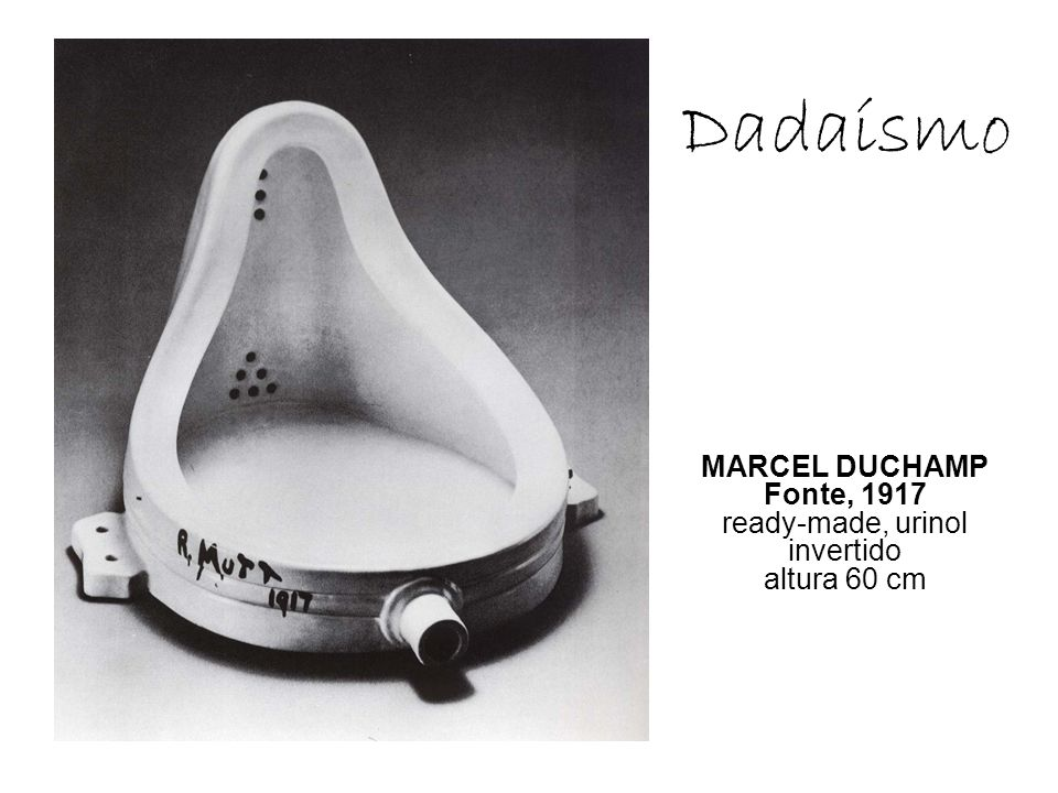 MARCEL DUCHAMP Fonte, 1917 ready-made, urinol invertido altura 60 cm