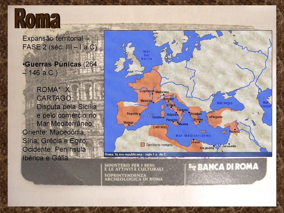 Roma Expansão territorial – FASE 2 (séc. III – I a.C)