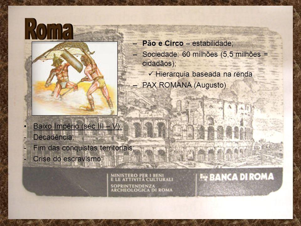 Roma Pão e Circo – estabilidade;