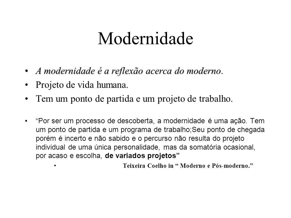 Modernidade A modernidade é a reflexão acerca do moderno.
