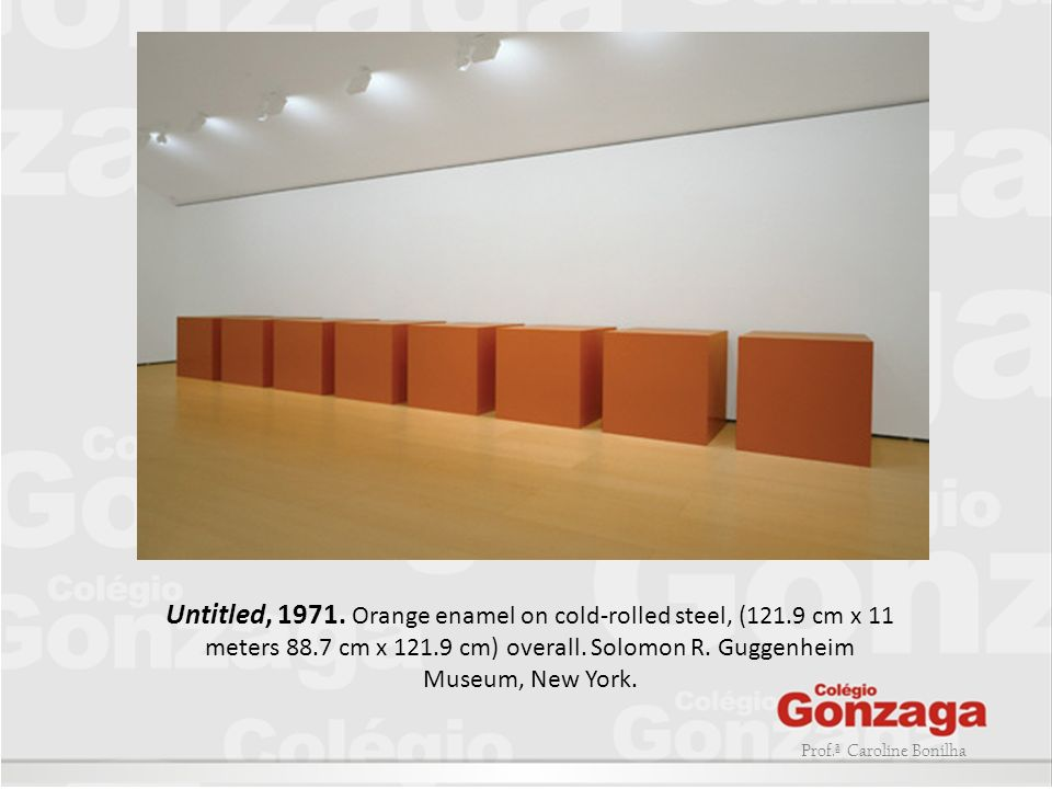 Untitled, 1971. Orange enamel on cold-rolled steel, (121