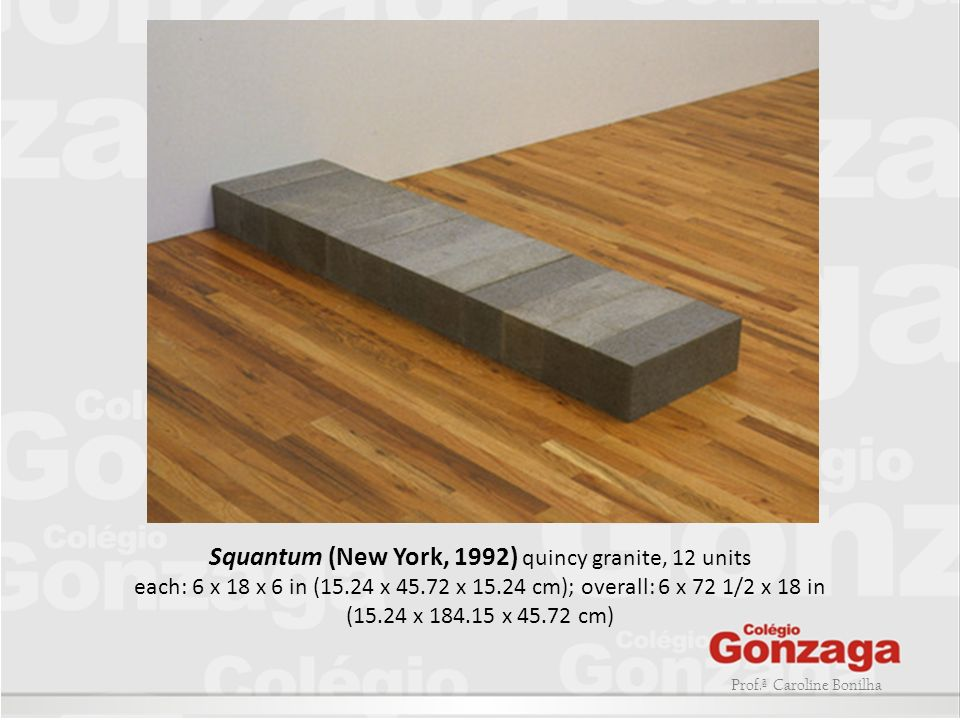 Squantum (New York, 1992) quincy granite, 12 units each: 6 x 18 x 6 in (15.24 x 45.72 x 15.24 cm); overall: 6 x 72 1/2 x 18 in (15.24 x 184.15 x 45.72 cm)