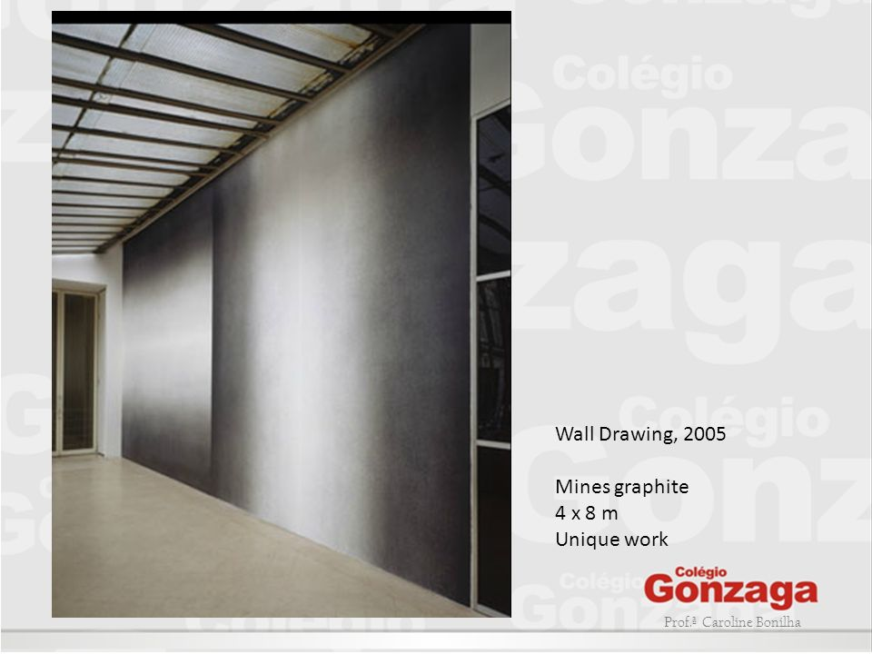 Wall Drawing, 2005 Mines graphite 4 x 8 m Unique work