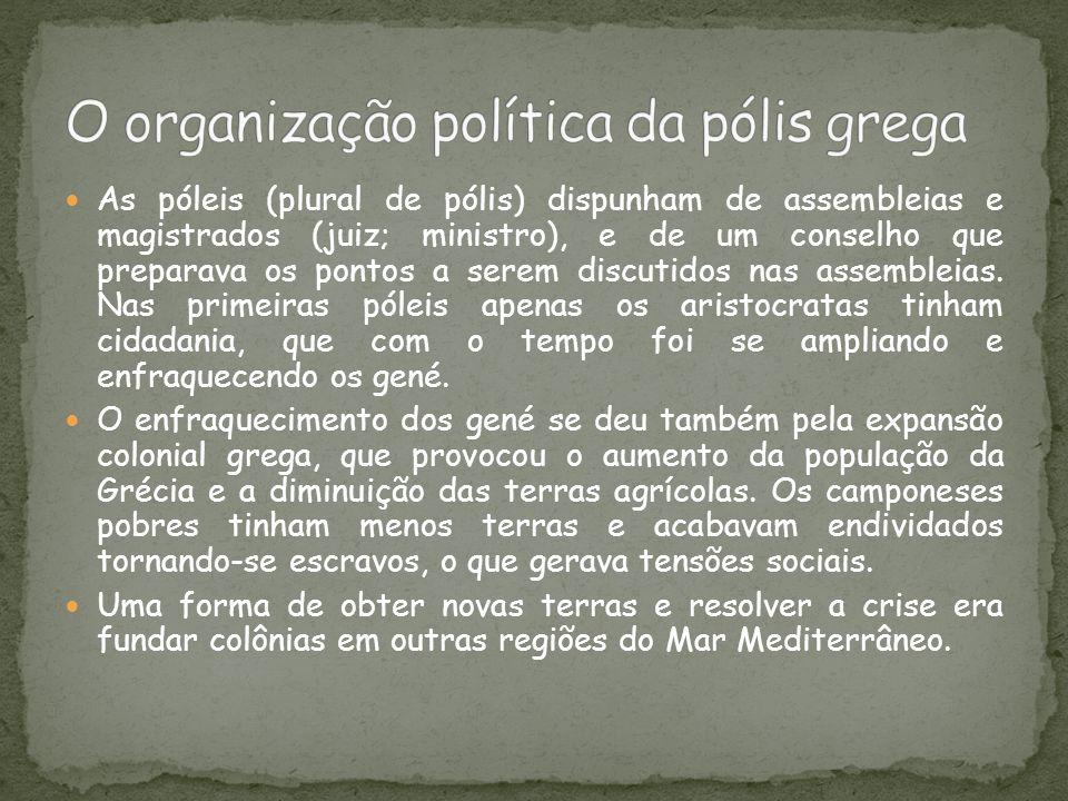 O organização política da pólis grega