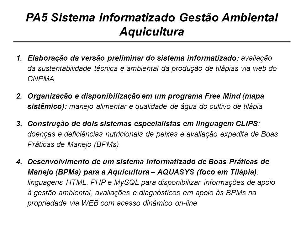PA5 Sistema Informatizado Gestão Ambiental Aquicultura