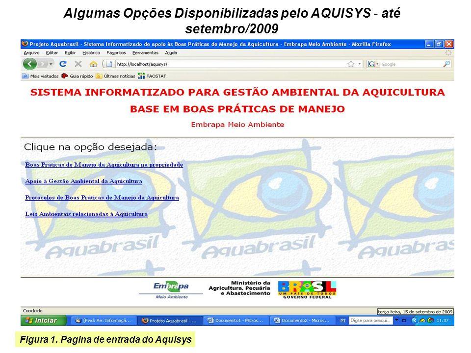 Figura 1. Pagina de entrada do Aquisys