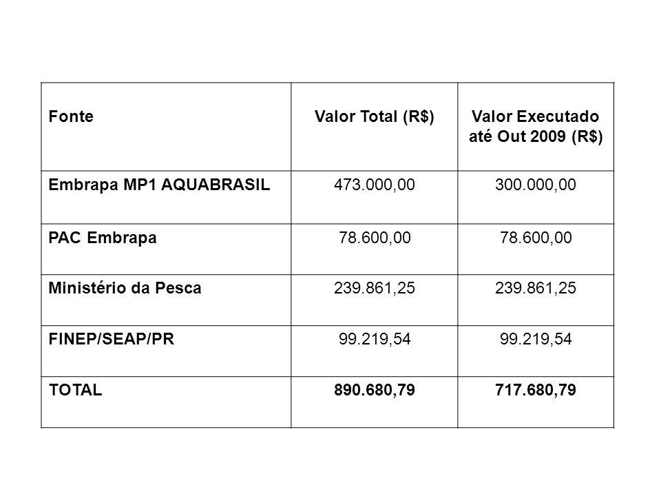 Valor Executado até Out 2009 (R$)