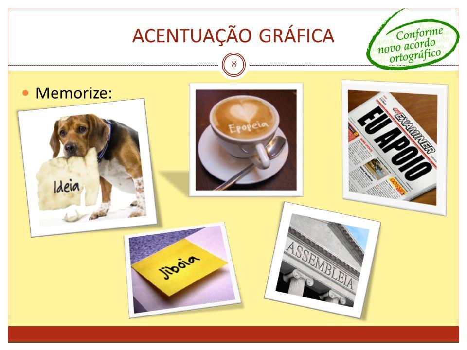 ACENTUAÇÃO GRÁFICA Memorize: