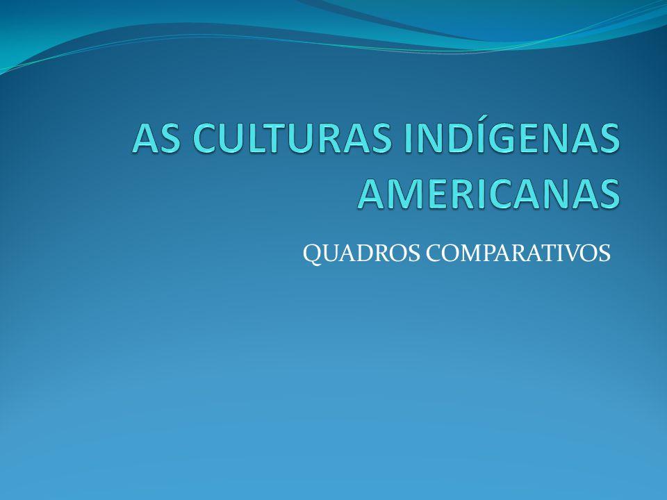 AS CULTURAS INDÍGENAS AMERICANAS